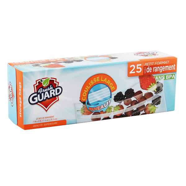 Fresh Guard Storage Bag Quart 25CT