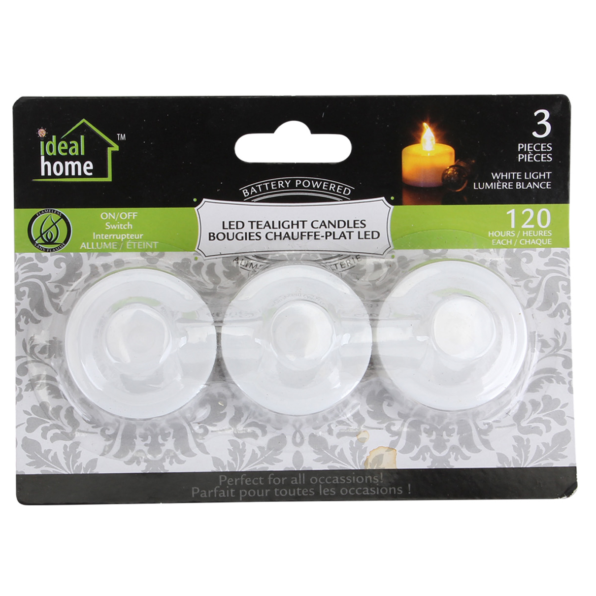 Ideal Home LED Tealight 3PK WhiteLight