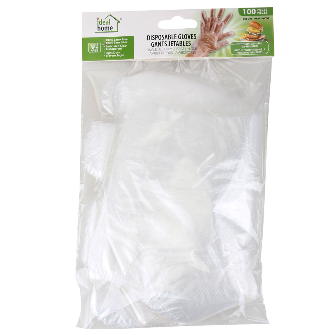 Ideal Home Disposable Gloves 100PK