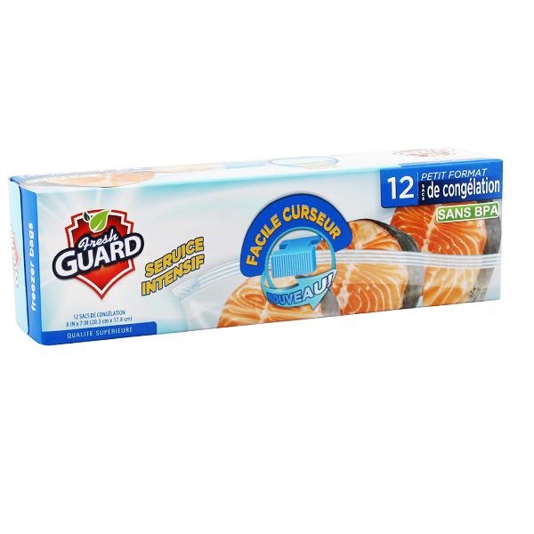 Fresh Guard Slider Freezer Bag Quart 12CT