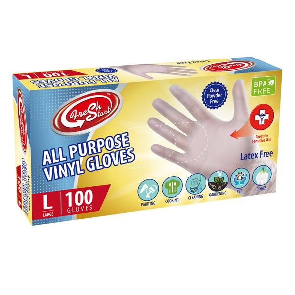 Wish All Purpose Vinyl Gloves 100CT Large