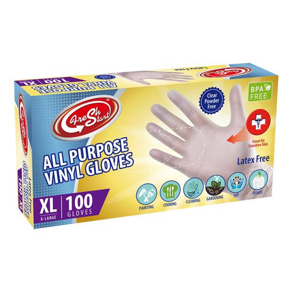 Wish All Purpose Vinyl Gloves 100CT X-Large