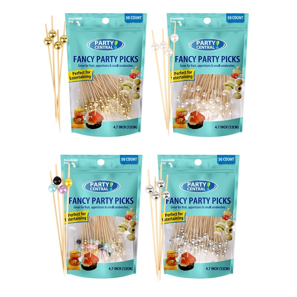 Party Central Fancy Picks 50CT Mix Pearls