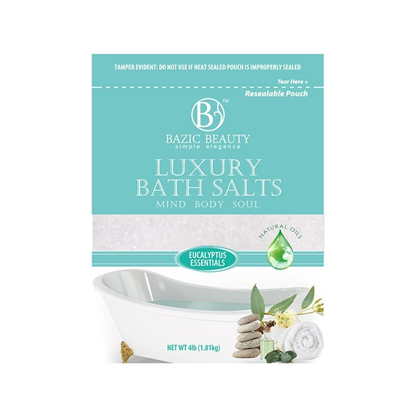Bazic Beauty Epsom Salt 4lb Bag Eucalyptus Essentials