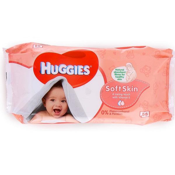 Huggies Wipes 56CT Soft Skin