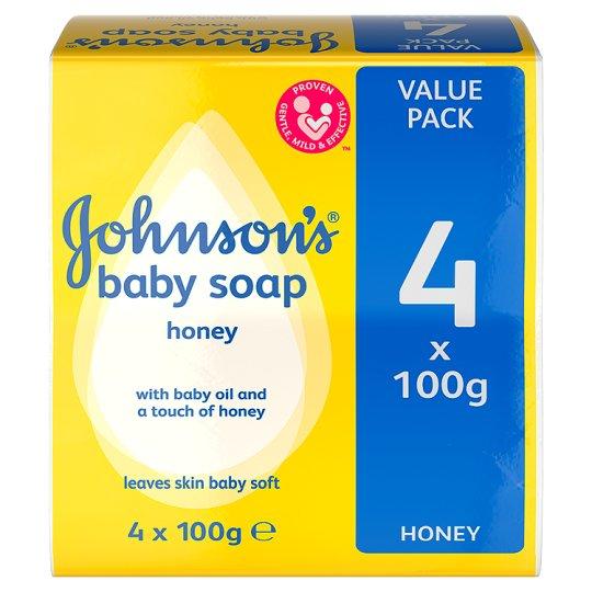 JJ Baby Soap 100g 4PK Honey