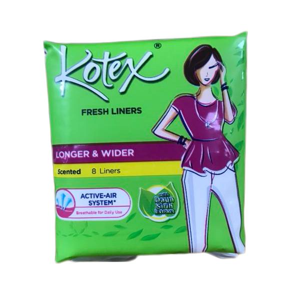 Kotex Panty Liner 8CT Longer Wider