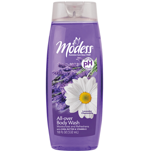 Modess Body Wash 18oz Lavender Chamomile