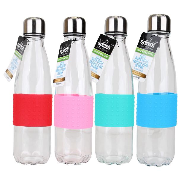 Splash Glass Bottle 21oz Cola w/ Silicone Sleeve