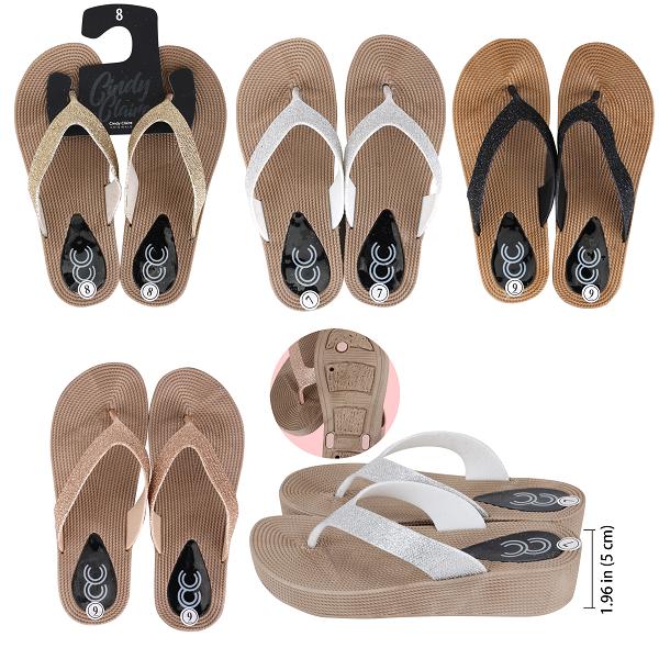 CC Sandal Ladies Glitter High Heel