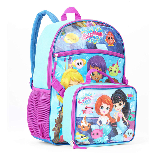 Splashlings Backpack With Lunchbox An Ocean Full of Friends