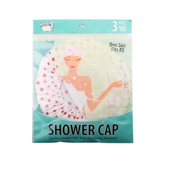 Ideal Bath Shower Cap 3PK