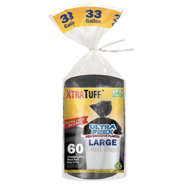 XtraTuff Trash Bag Large 33G 60CT Bag