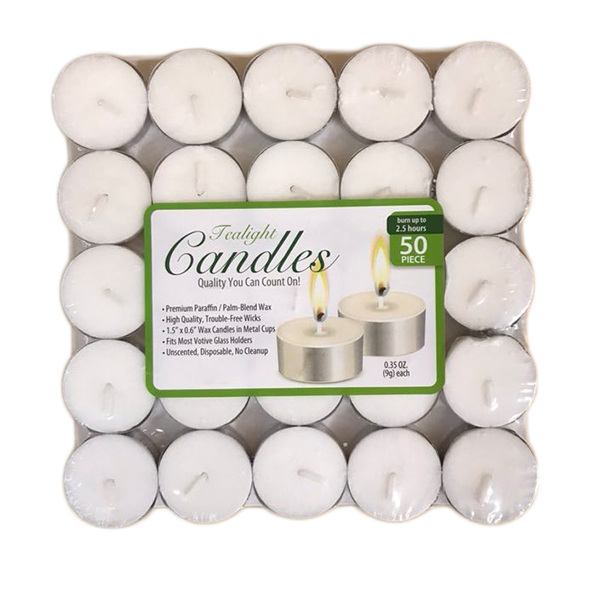 Candle Tealight 50PK Shrink