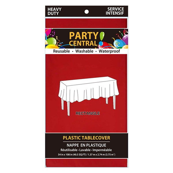 Table Cover Rectangular Red