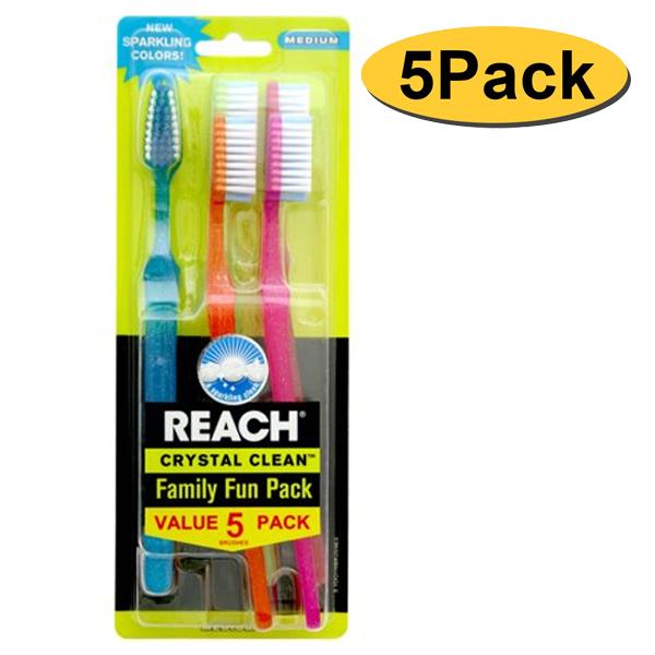 Reach Toothbrush Crystal Clean 5PK Medium