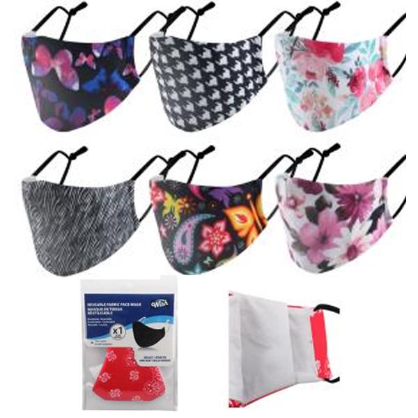 Wish Reusable Cloth Mask Flowers
