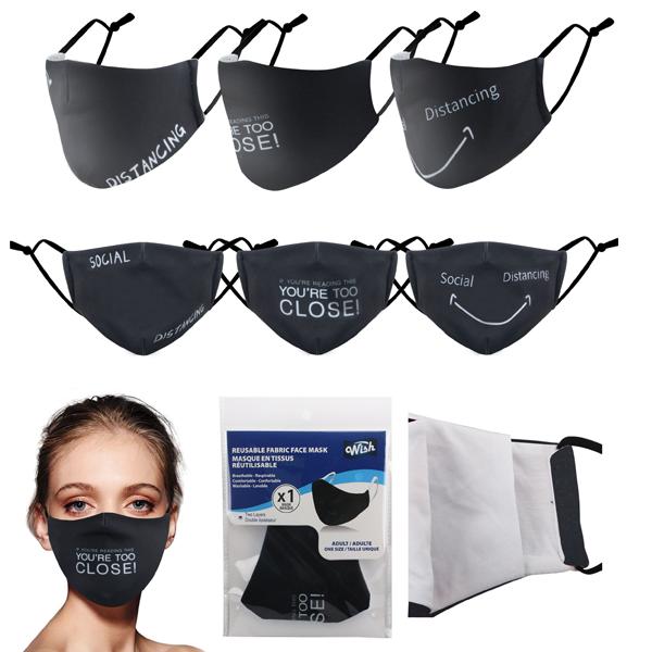 Wish Reusable Cloth Mask Words
