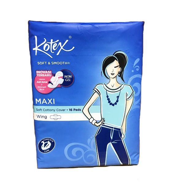 Kotex Soft & Smooth Maxi Plus 16CT Wing