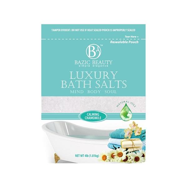 Bazic Beauty Epsom Salt 4lb Bag Calming Chamomile