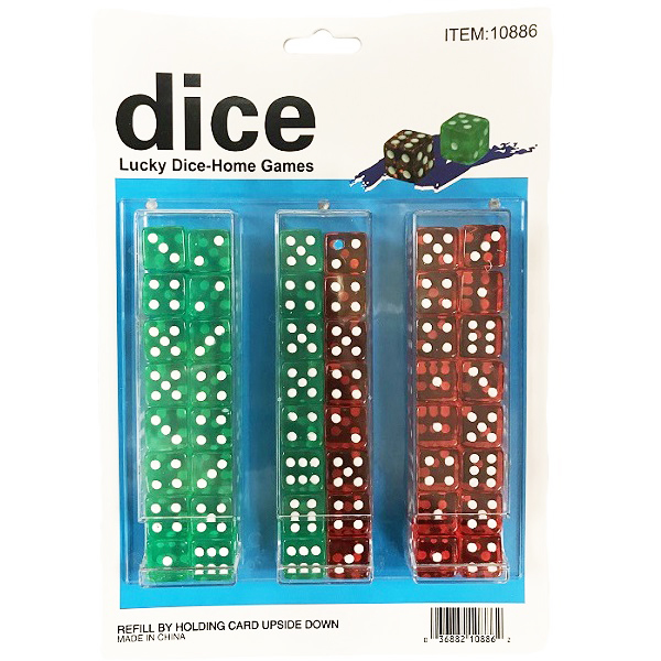 Dice Color 48CT Transparent