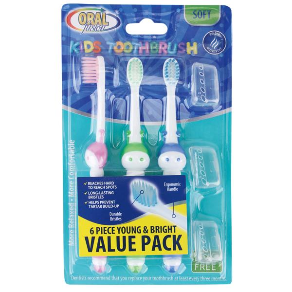 Oral Fusion Toothbrush Kids 6PK Caterpiller