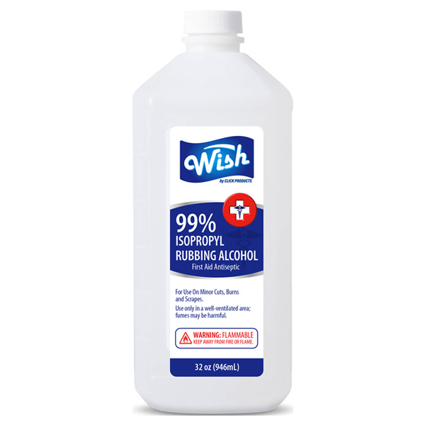 Wish Rubbing Alcohol 32oz 99%