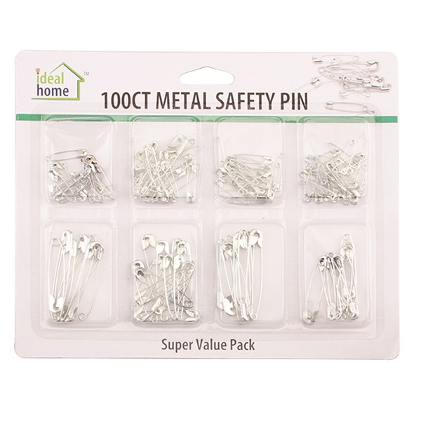 Ideal Home Safety Pin 100CT