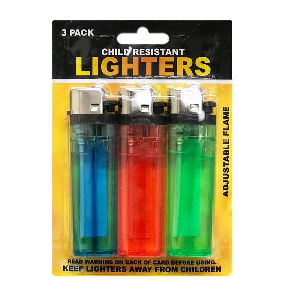Lighter 3PK Child Resistant