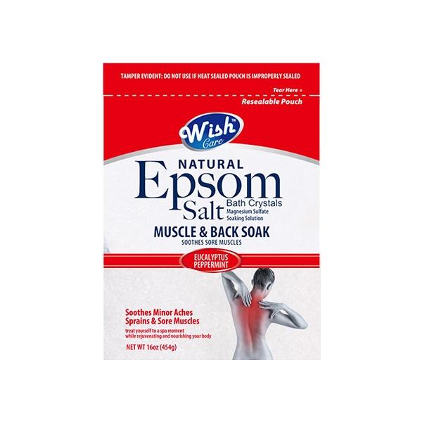 Wish Epsom Salt 16oz Bag Muscle & Back Soak