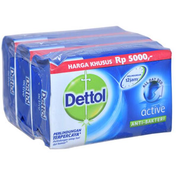 Dettol Soap 3PK 105g Active