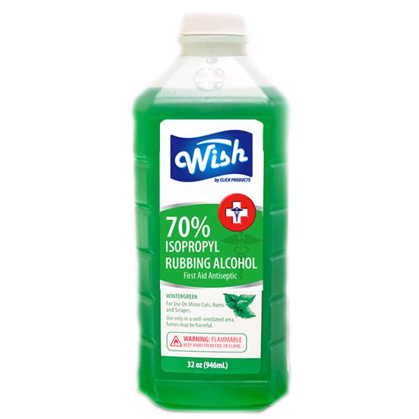 Wish Rubbing Alcohol 32oz 70% Wintergreen