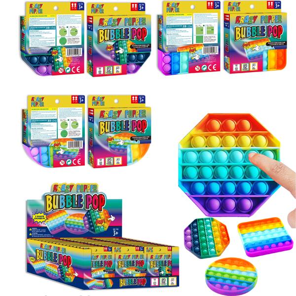 Krazy Popper Bubble 3 Mix Shape Rainbow