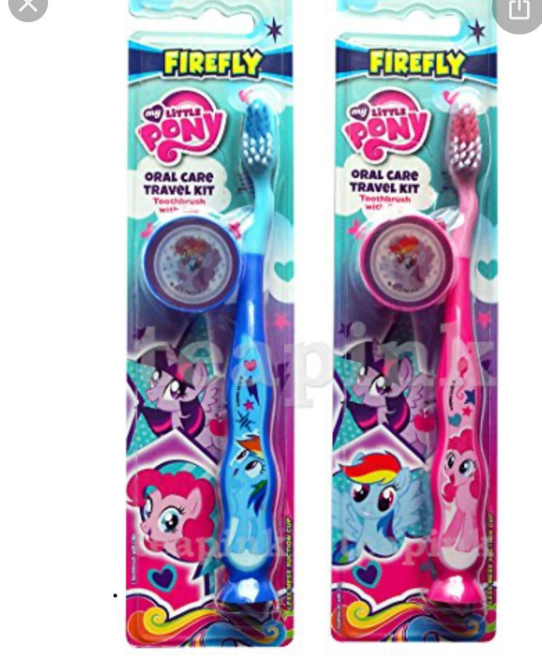 Firefly Toothbrush Little Pony Ziggly w/ Cap