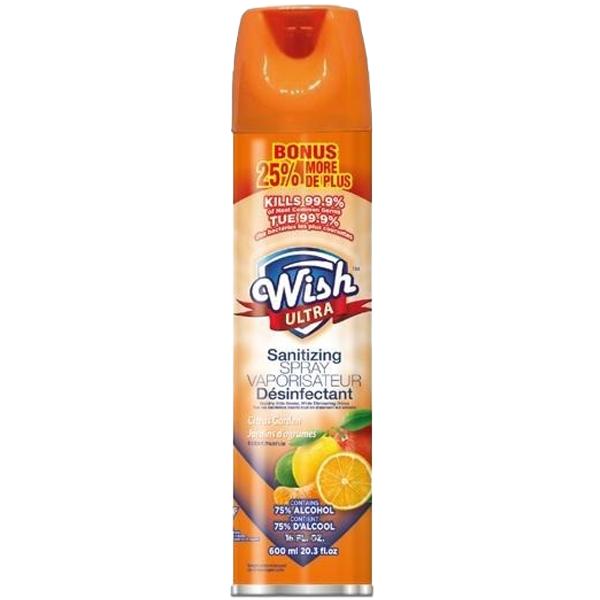 Wish Sanitizing Spray Aerosol 20.29oz Citrus Garden