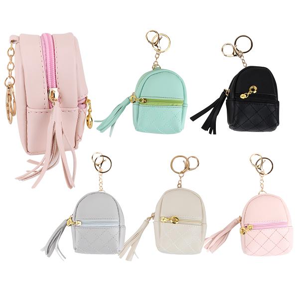 CC Keychain Coin Bag Zipper Puff
