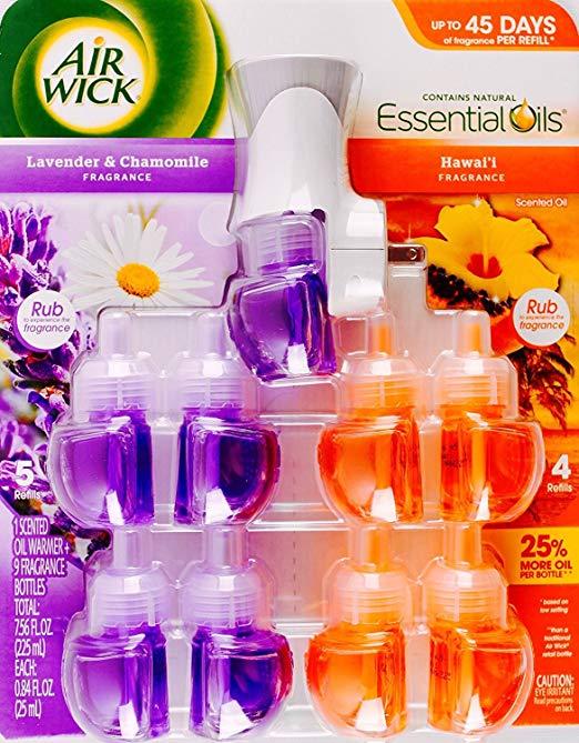 Air Wick Oil 9PK + Warmer Lavender Hawaiian