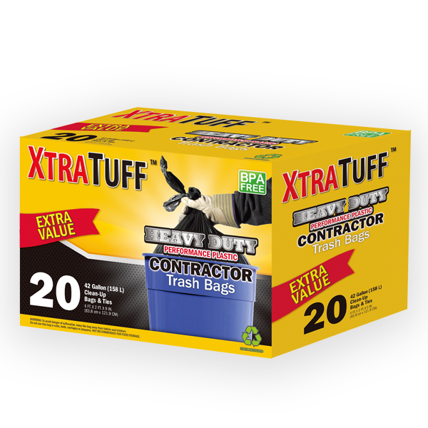 XtraTuff Trash Bag Contractor 42G 20CT Box