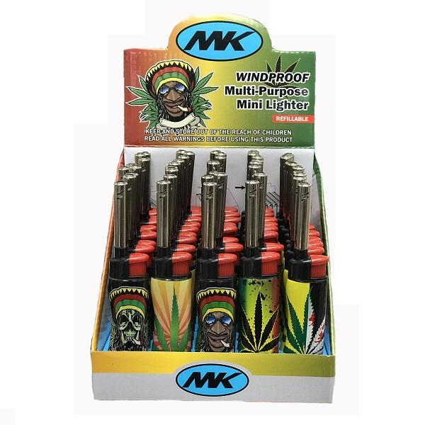 MK Mini Utility Windproof Lighter w/ Rasta Wrap