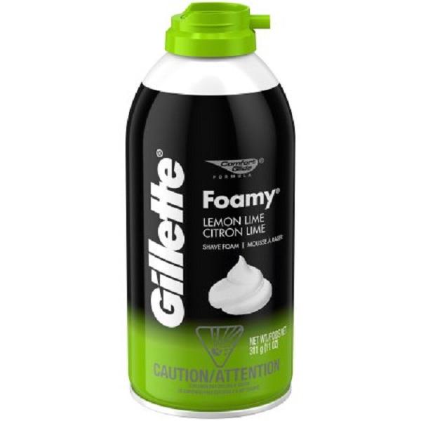 Gillette Foamy Shaving Cream 11oz Lemon Lime