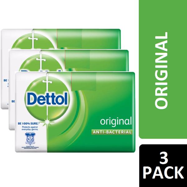 Dettol Soap 3PK 65g Original