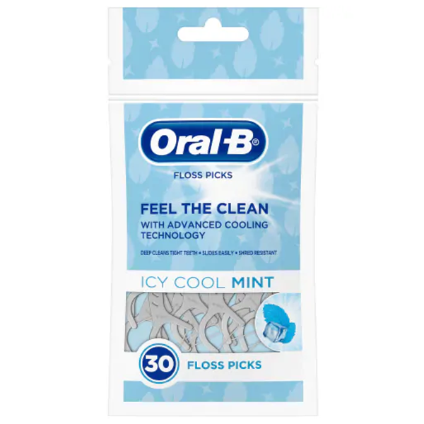 Oral-B Floss Pick 30CT Icy Cool Mint