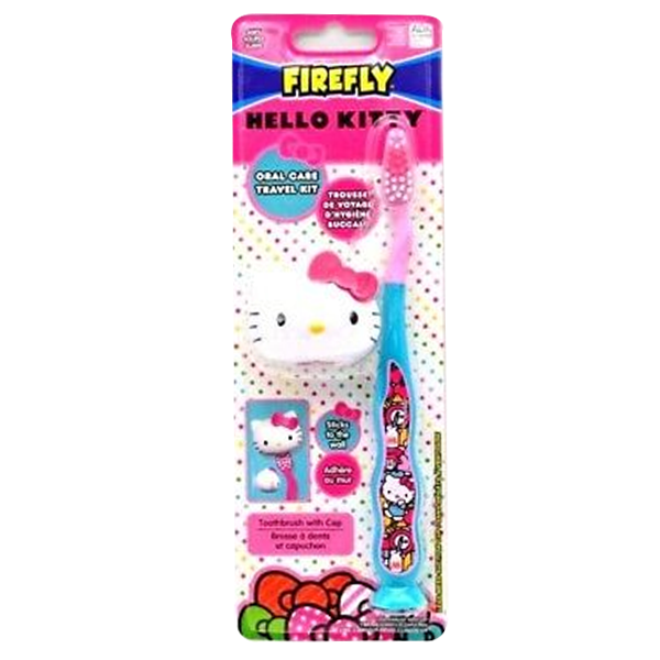 Firefly Toothbrush Hello Kitty Travel Kit with Cap