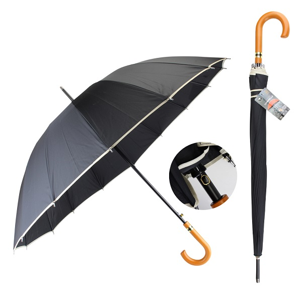 Drops Umbrella Long Wood Handle