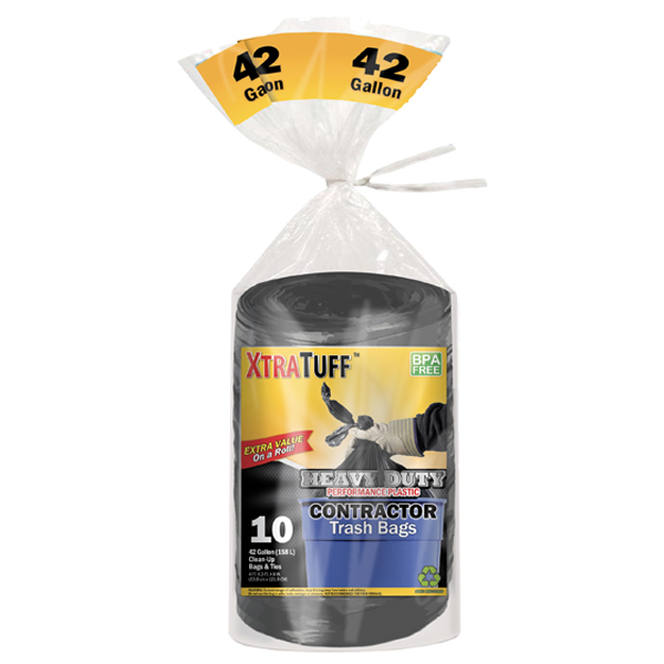 XtraTuff Trash Bag Contractor 42G 10CT Bag