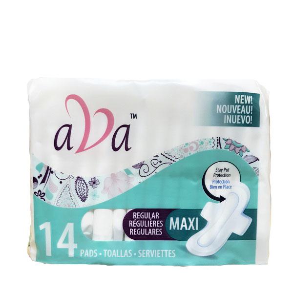 Ava Sanitary Pads Maxi Reg 14CT