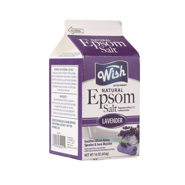 Wish Epsom Salt 16oz Box Lavender