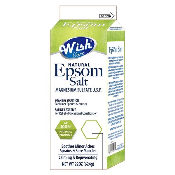 Wish Epsom Salt 22oz Box Original