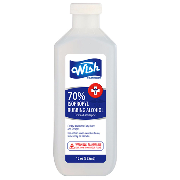 Wish Rubbing Alcohol 12oz 70%