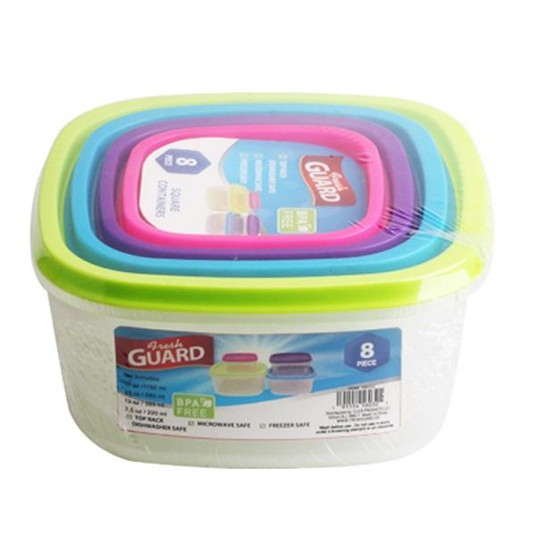 Fresh Guard Plastic Container Set 8PK